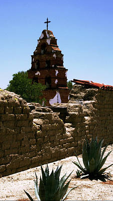Photograph - Bell Tower-mission San Miguel by Gary Brandes