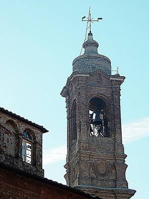 Photograph - Bell Tower Of Chiesa Dei Santi Gervasio E Protasio by Dorothy Berry-Lound