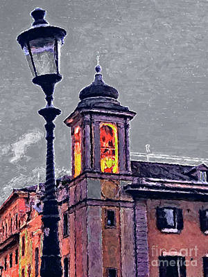 Tiber Island Wall Art - Painting - Bell Tower Of Rome by GabeZ Art
