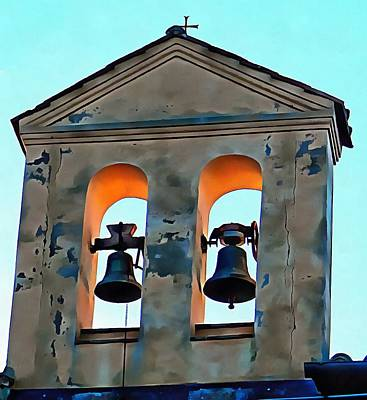 Photograph - Bell Tower On Usl Building Panicale by Dorothy Berry-Lound