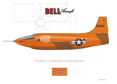 Digital Art - Bell X-1 by Rick Blyseth
