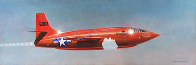 Painting - Bell X-1 Rocket Plane by Douglas Castleman