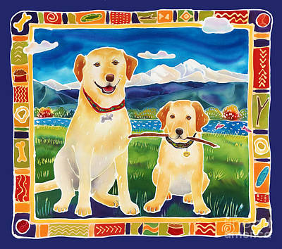 Bella And Bruno's Fine Day Print by Harriet Peck Taylor