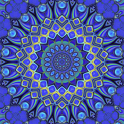 Digital Art - Bella - Blue by Wendy J St Christopher