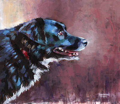 Cattle Dog Painting - Bella by Douglas Simonson
