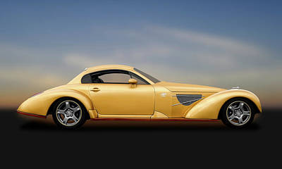 Photograph - Bella Elan Sport Coupe  -  1937bellaelan1988c4vette184171 by Frank J Benz