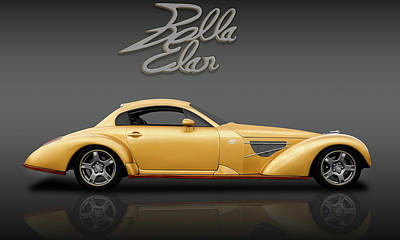 Photograph - Bella Elan Sport Coupe  -  Bellaelanlogoreflectfa184171 by Frank J Benz