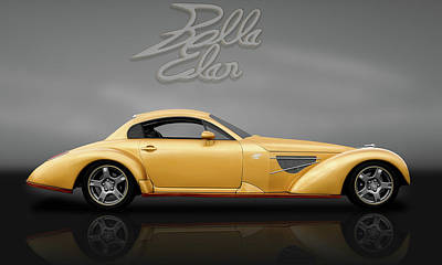 Photograph - Bella Elan Sport Coupe  -  Bellaelanreflectlogogry184171 by Frank J Benz