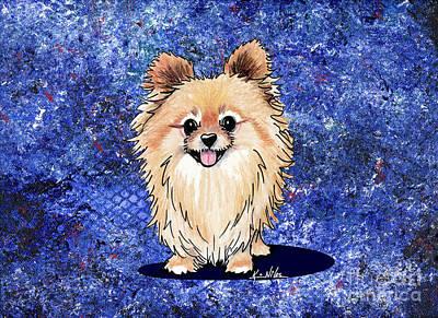 Dog Abstract Art Drawing - Bella Galaxy by Kim Niles