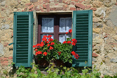 Photograph - Bella Italian Window  by Frank Stallone