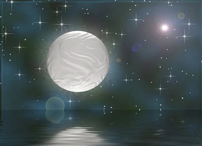 Heavenly Body Digital Art - Bella Luna by Wendy J St Christopher