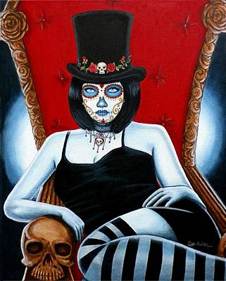 Art Print featuring the painting Bella Muerte 2016 by Al  Molina