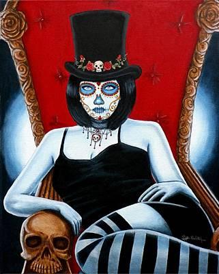 Painting - Bella Muerte 2016 by Al  Molina
