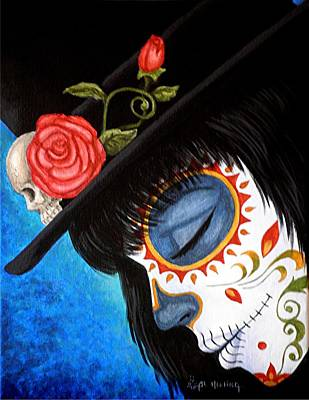 Painted Face Painting - Bella Muerte Returns by Al  Molina