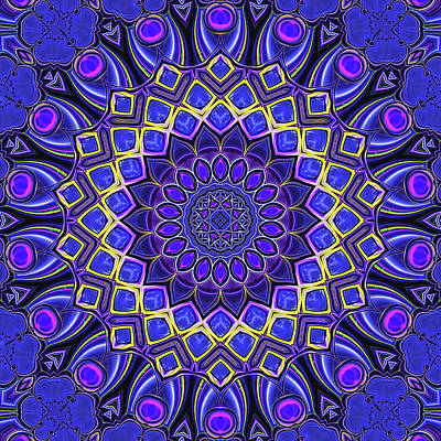 Digital Art - Bella - Purple by Wendy J St Christopher