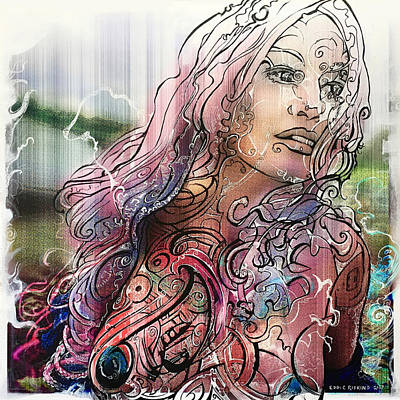 Mixed Media - Bella Remixed II by Eddie Rifkind