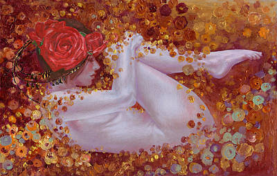 Art Print featuring the painting Bella Rose by Ragen Mendenhall