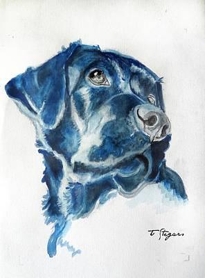 Wall Art - Painting - Bella The Labrador Retriever by Tarja Stegars