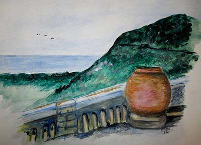 Bella Vista, Cumae Italy Art Print by Clyde J Kell