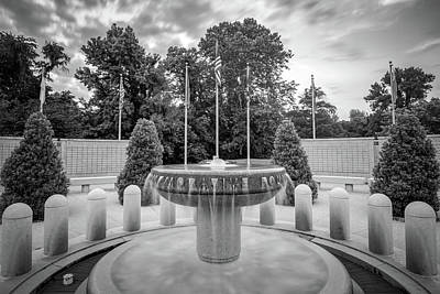 Photograph - Bella Vista Veteran War Memorial - Northwest Arkansas - Monochrome by Gregory Ballos