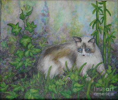 Bella With Ivy And Bamboo Art Print by Sheri Hubbard