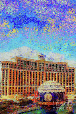 Photograph - Bellagio Casino From Paris Hotel And Casino On The Las Vegas Strip Las Vegas Nevada 20180518 Vert by Wingsdomain Art and Photography