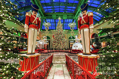 Photograph - Bellagio Christmas Tree And Nutcrackers At Dawn 2017 by Aloha Art