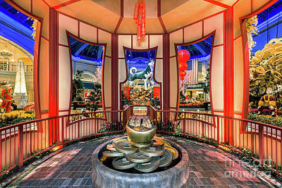 Photograph - Bellagio Conservatory Chinese New Year Of The Dog Gazebo by Aloha Art