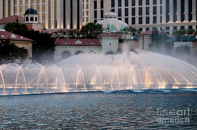 Bellagio Fountain Patterns 2 Hotel Casino Fountains Las Vegas Nevada Art Print by Andy Smy