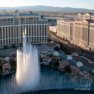 Bellagio Fountains At Dusk Art Print