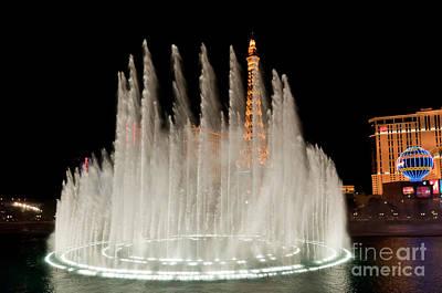 Bellagio Fountains Night 3 Art Print