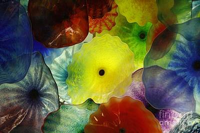 Photograph - Bellagio Glass Flowers by Wilko Van de Kamp
