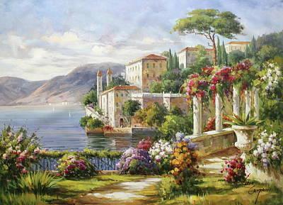 Bellagio, Lago Di Como Art Print by Lucio Campana