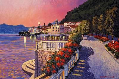 Lake Como Painting - Bellagio Lake Como by Santo De Vita