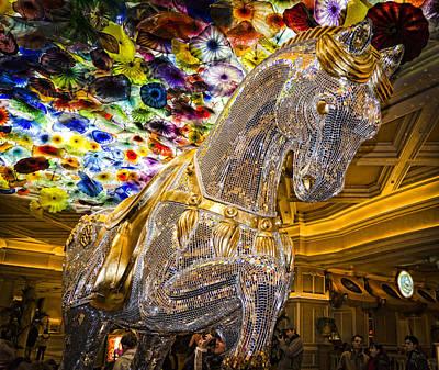 Bellagio Mosaic Horse Print by Jon Berghoff