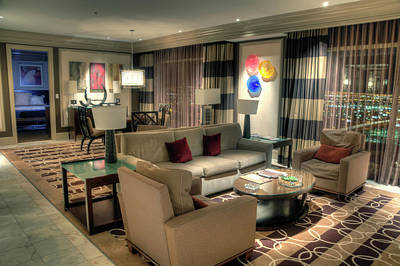 Photograph - Bellagio Penthouse Suite by Eddie Yerkish