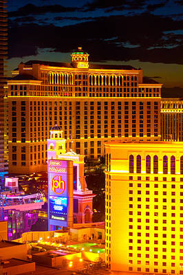Bellagio  Planet Hollywood  Art Print by James Marvin Phelps