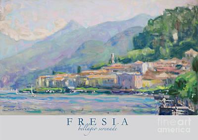 Lake Como Painting - Bellagio Seranade by Jerry Fresia