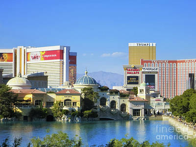 Photograph - Bellagio Villa And Lake, Las Vegas by Tatiana Travelways