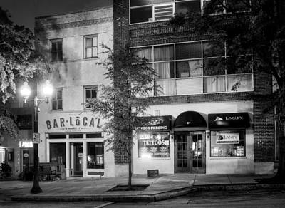Photograph - Bellas Bar Local In Black And White by Greg Mimbs
