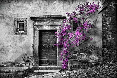 Photograph - Nella's Door In Cortona by Al Hurley