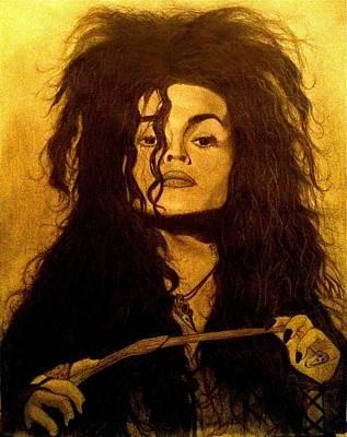 Bellatrix Lestrange Drawing - Bellatrix by Frank Hernandez