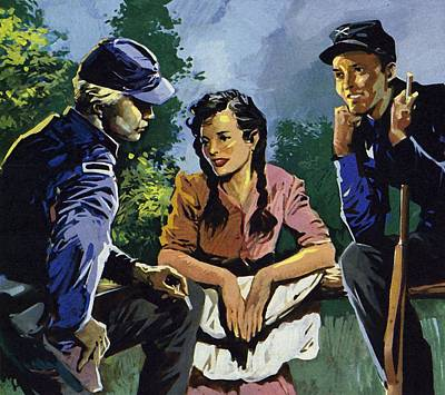 Female Spy Painting - Belle Boyd Was A Spy During The American Civil War  by American School