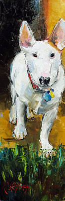 English Bull Dog Painting - Belle by Claire Kayser