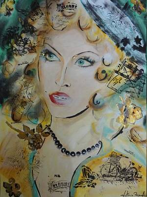 Belle De Nuit Art Print by Victoria Rosenfield