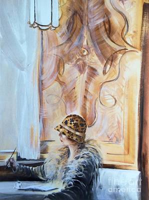 Espresso Painting - Viennese Cafe by Barbara Chase