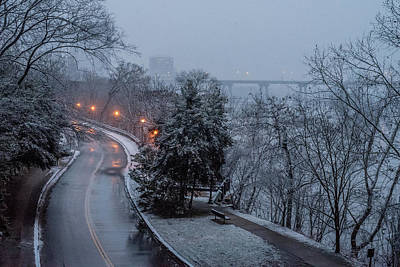 Photograph - Belle Isle Early Snowfall by Doug Ash