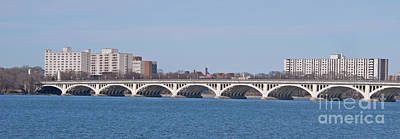 Photograph - Belle Isle Bridge Panorama by Ann Horn