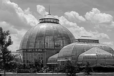 Photograph - Belle Isle Conservatory 2 Bw by Mary Bedy