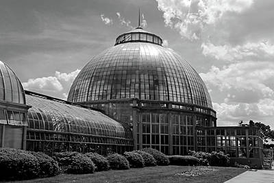 Photograph - Belle Isle Conservatory 3 Bw by Mary Bedy